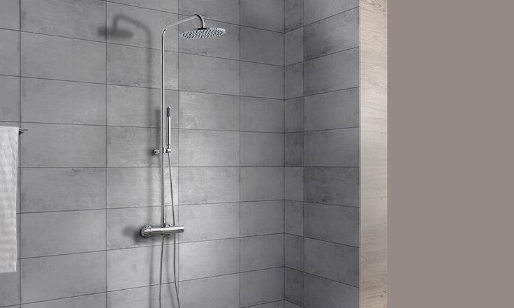 KLYS, de Gala, es una una columna de ducha funcional, moderna y discreta. Con grifería termostática y dispositivo de seguridad 38º Safe Stop, es un modelo muy práctico y versátil.