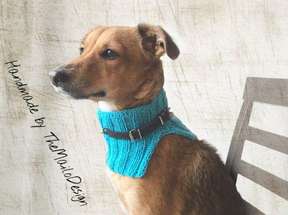 Blue Dog Scarf, Dog Collar Scarf, Dog Clothes, Dog Accessories, Rescue Dog Scarf