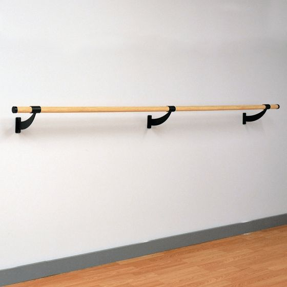 Portable Barre - Wood Wall Mounted Ballet Barre (5ft Single Bar)