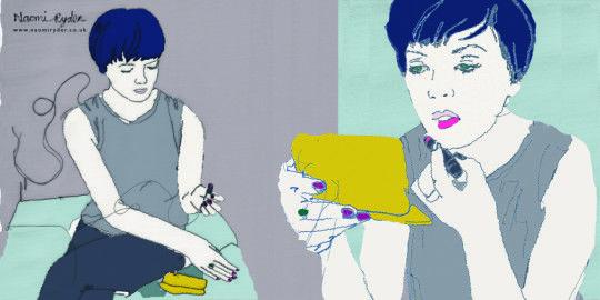 Sarah puts her lipstick on- naomi ryder. Naomi Ryder interview: Different on different days