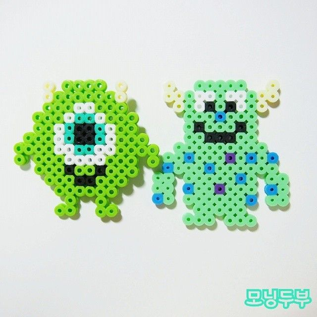 Mike and Sulley - Monsters Inc perler beads by levstagram89