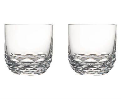 Kristall-Longdrinkgläser Reflection, 2 Stück, H 10 cm