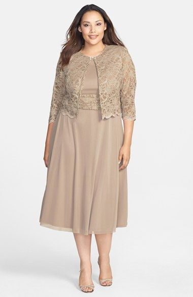 Free shipping and returns on Jessica Howard Ruched Waist Dress & Crop Lace Jacket at Nordstrom.com.