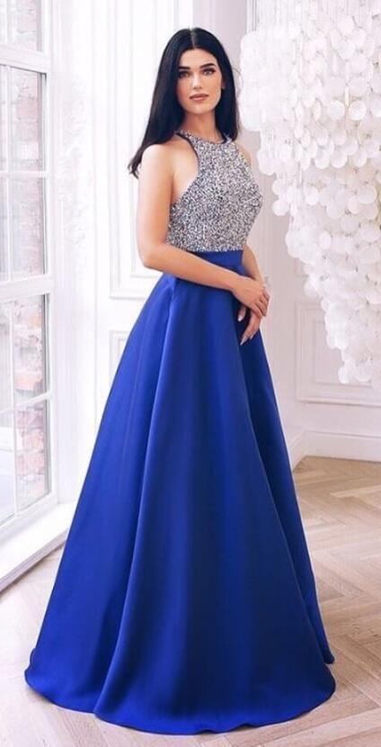 e0fc85390b0 elegant royal blue long prom dress