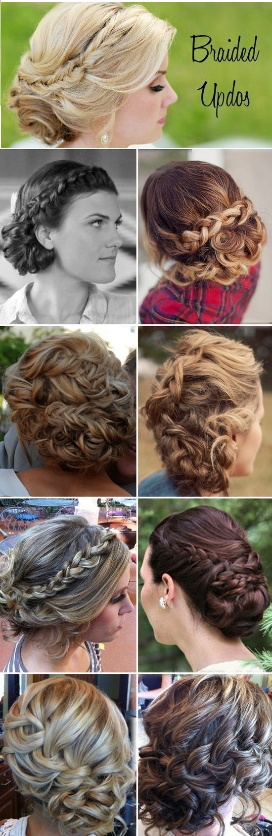 Updo Hairstyles using braids.