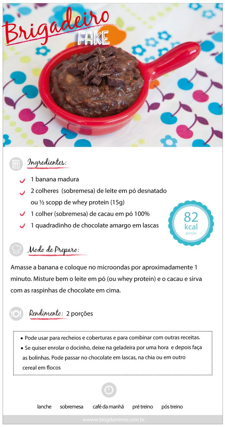 Receita de brigadeiro fake  do Blog da Mimis - Amo brigadeiro! E essa é minha receita fake para adoçar a vida sem sair da dieta.