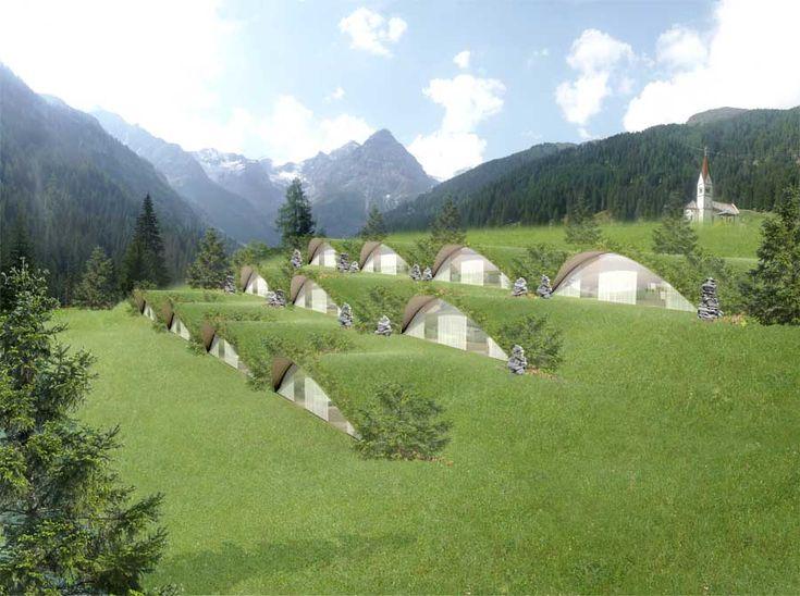 Klima Hotel, Bozen, Italy****LOOKS LIKE THE WORLD OF THE TELETUBBIES ******LOL