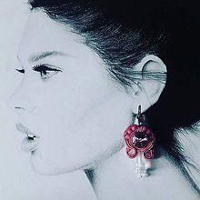 Náušnice - Náušnica pink lady- soutache - 7144942_