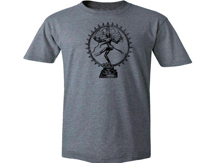 Nataraja Shiva  Dancing God spirit yoga gray t-shirt S-2XL by mycooltshirt on Etsy