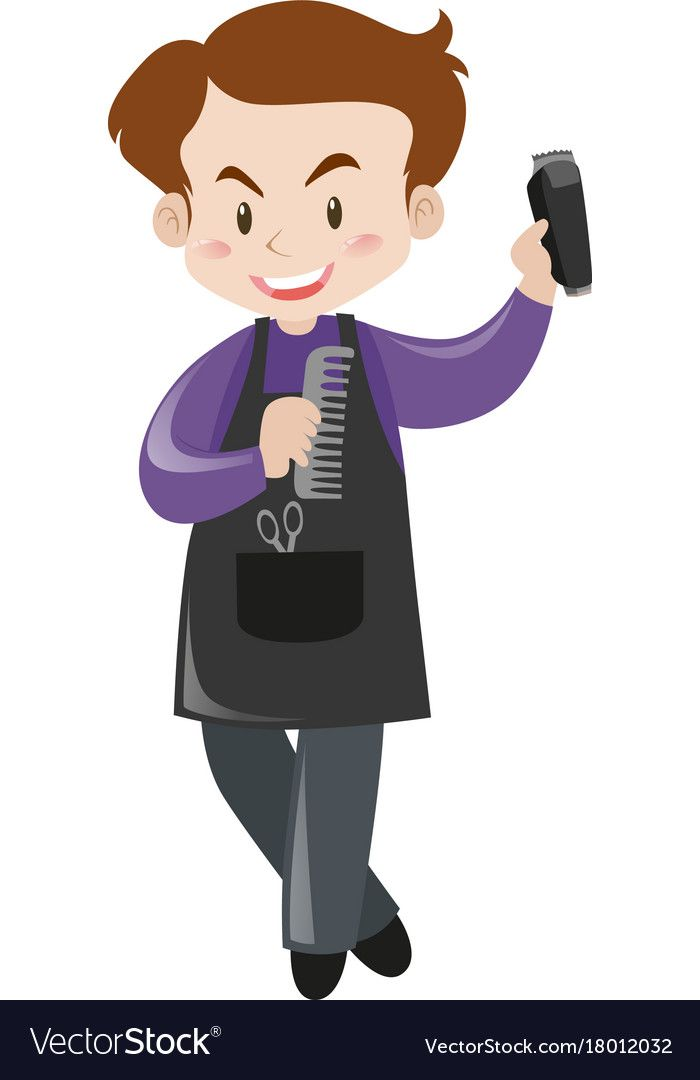 Male Hairdresser With Tools Vector Image On Vectorstock Vector Images Illustration Male