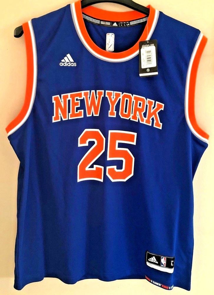 NEW YORK KNICKS REPLICA JERSEY DERRICK ROSE   25 NBA MEN S LARGE ADIDAS   adidas  NewYorkKnicks 311c3b587
