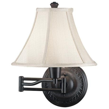 home amherst bronze plug in swing arm wall light great for bedroom