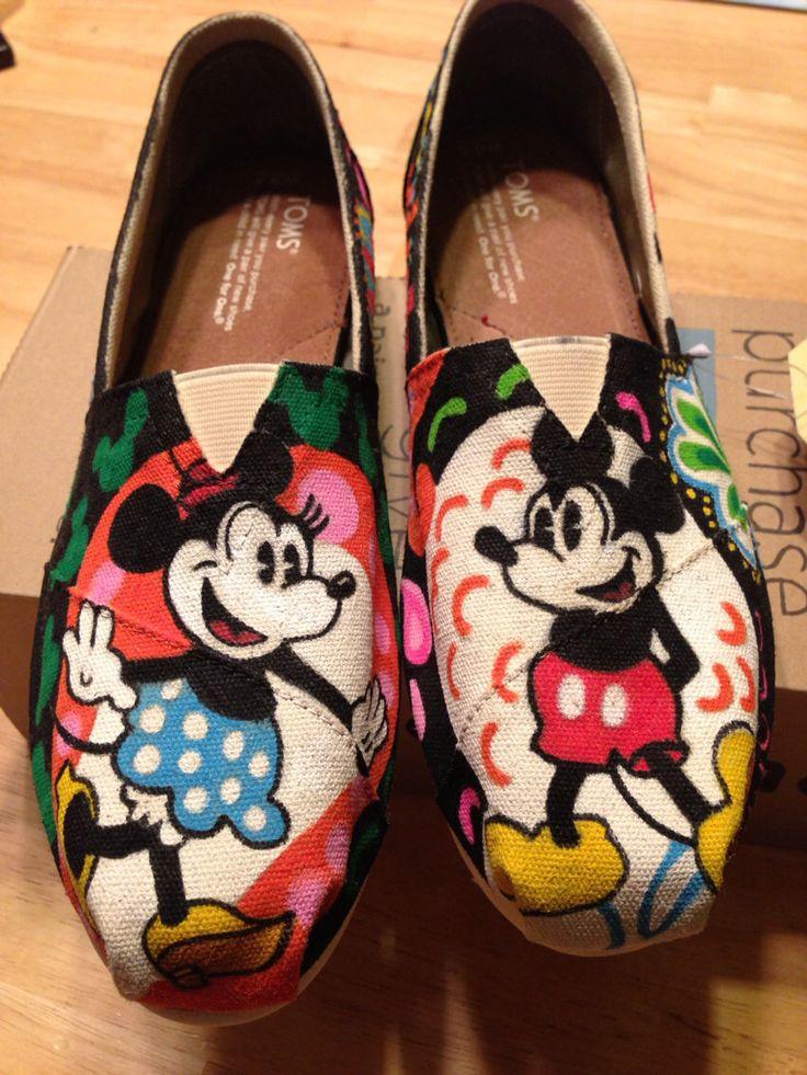 Vera Bradley midnight Mickey  disney inspired toms painted shoes by Cherimorandesign on Etsy https://www.etsy.com/listing/193680755/vera-bradley-midnight-mickey-disney