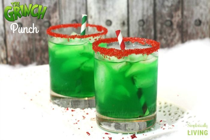 Mr. Grinch is a mean one, but this Grinch Punch isn't!
