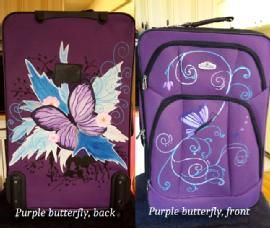 Purple butterfly 004