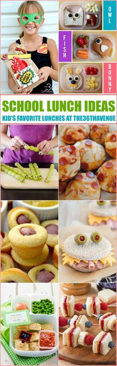 Fun School Lunch Ideas to start planning your Back to School lunch menus now. Really tasty ideas the kids will love!