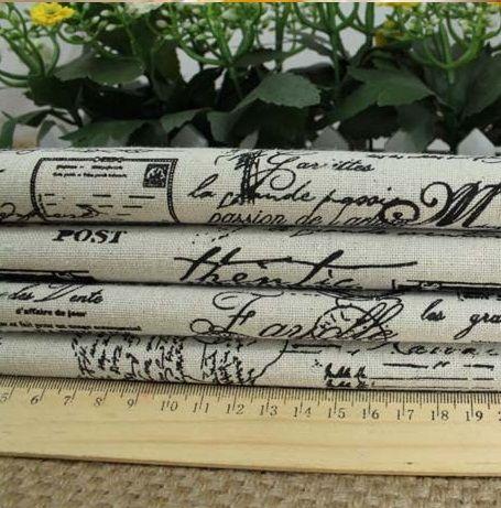 ZAKKA Janpan linen fabric the English newspaper printed  linen cotton fabric  for DIY craft 150*100cm  wholesale