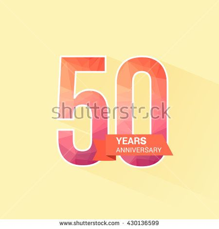 50 Years Anniversary with Low Poly Design