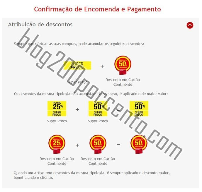 Novas regras Acumulações Cupões Continente Online - http://parapoupar.com/novas-regras-acumulacoes-cupoes-continente-online/