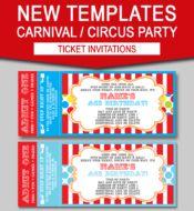 Editable Carnival Ticket Invitations | Editable Circus Ticket Invitations | Birthday Party | Big Top Circus | Editable and Printable Invitation Templates | INSTANT DOWNLOADS $7.50 via simonemadeit.com