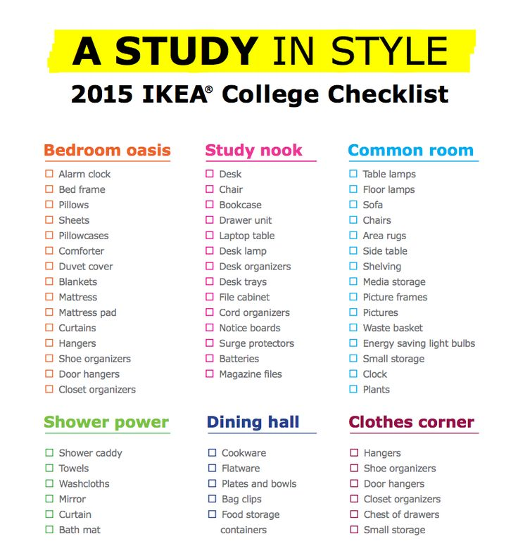 Back to school list for college dorm-7547
