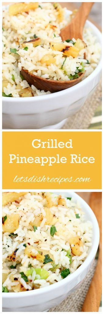 Grilled Pineapple Rice | Posted By: DebbieNet.com |