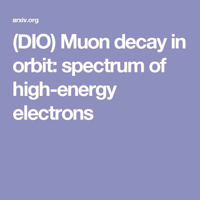 (DIO) Muon decay in orbit: spectrum of high-energy electrons