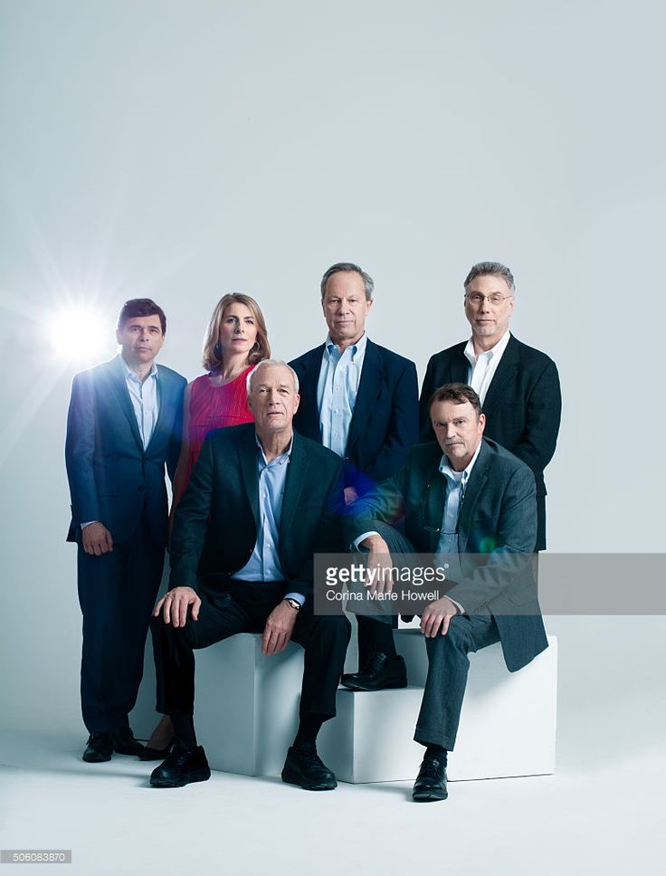 Writer Walter V. Robinson, Boston Globe Spotlight Reporter Matt Carroll, Ben Bradlee Jr., Sacha Pfeiffer, Michael Rezendes are Photographed for 'The Wrap' on (December 1, 2015) in New York City.