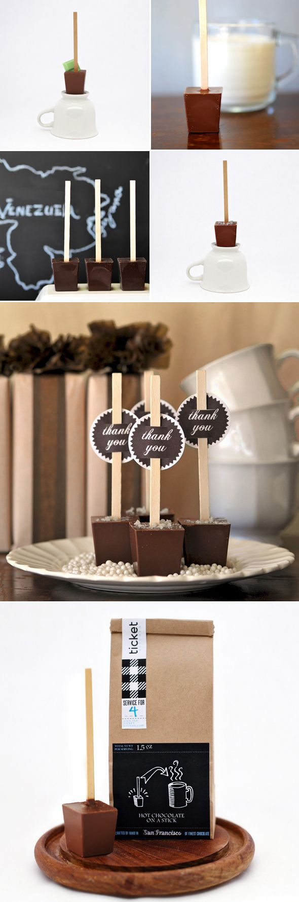 TICKET chocolate - hot chocolate on a stick. Love it and *highly* recommend making their dark varieties with water - SO good!