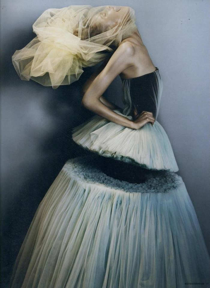 I love the texture of the skirt cut off.. Viktor and Rolf