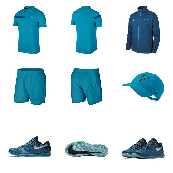 660a8895 Here is Roger Federer's outfit for Stuttgart and Halle 2018 guess he could  also wear white shorts depending on which Mirka gives the thumbs up to ;)