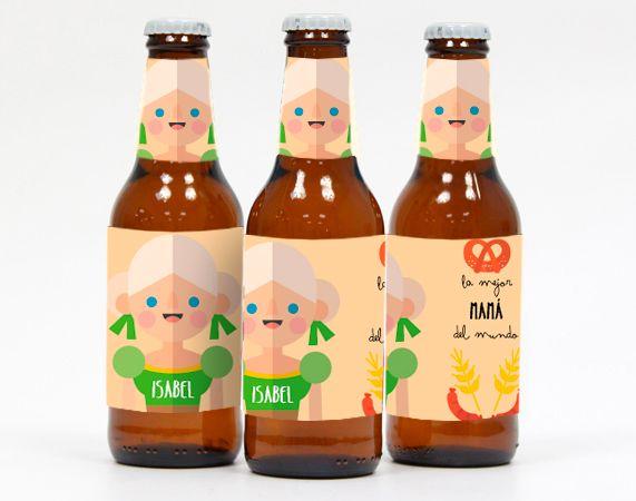 """Cerveza """"La mejor mamá del mundo"""" personalizada"""