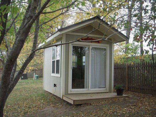It's a Shed, It's an Office...It's the Shoffice. This would be so nice to have.
