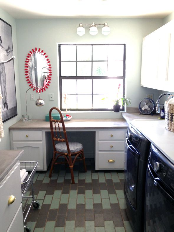 laundry room office combo idea for the home pinterest