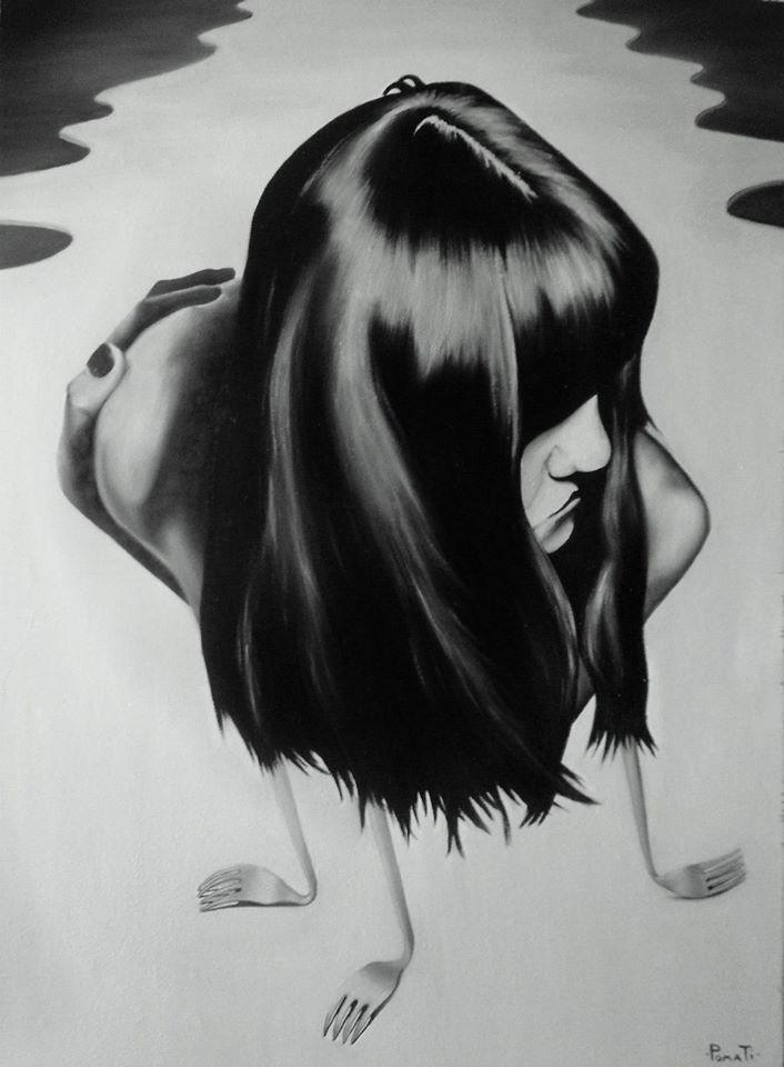 INDIFFERENCE olio su tavola  40x60   Artista: Paolo Pomati
