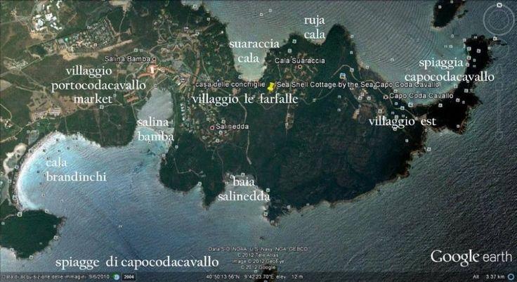 Affitto casa Capo Coda Cavallo - foto aerea capo coda cavallo con spiagge