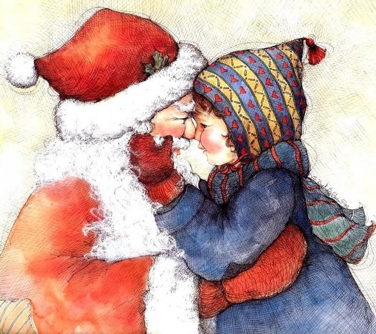 Santa: Christmas Time, Dear Santa, Clipart Image, Christmase Santa, Cards Ideas, Christmas Illustration, Christmas Art, Folk Painting, Christmas Photos