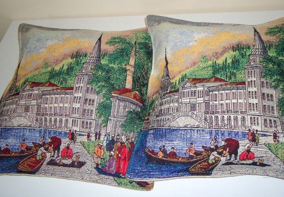 Gobelin Pillow for Home Decor.Turkish Hand Woven by BOHEMIANPILLOW, $140.00