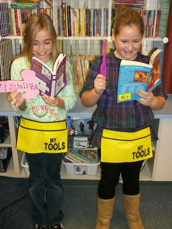 Reader's Toolkit - tools have reading strategies listed on them - ex visualize