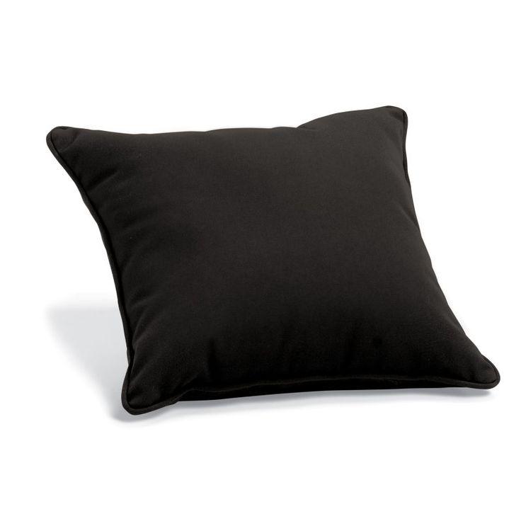 Oxford Garden 15 x 15 Sunbrella® Toss Pillow Black - 1TP15BK