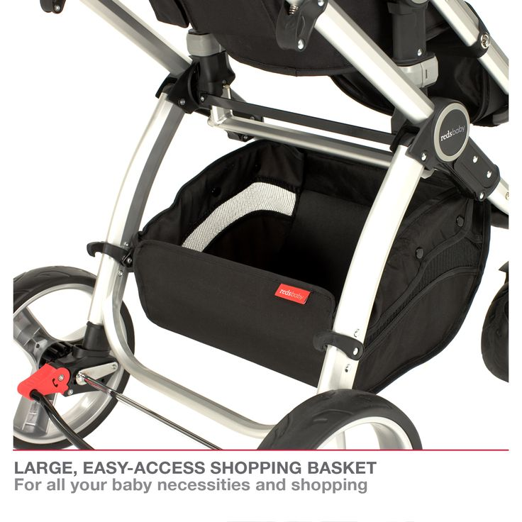 Redsbaby Bounce - The Ultimate All-In-One Stroller/ Pram www.redsbaby.com.au Includes a large, easy access shipping basket for all your baby necessities and shopping
