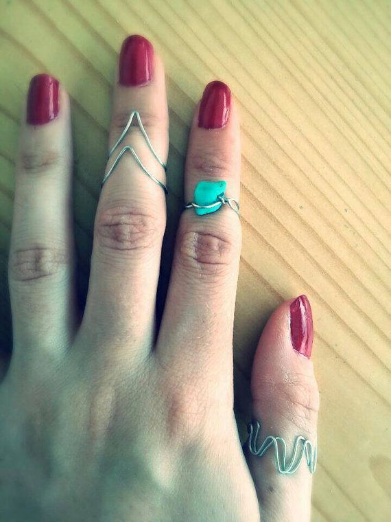 Check out this item in my Etsy shop https://www.etsy.com/listing/236470053/boho-turquoise-stone-midi-rings