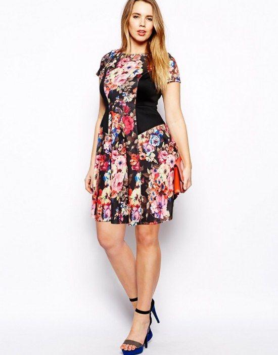 vestidos estampados de flores para gorditas - Buscar con Google ... a52d0a0efd47