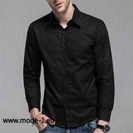 Schwarzes Hemd für Herren