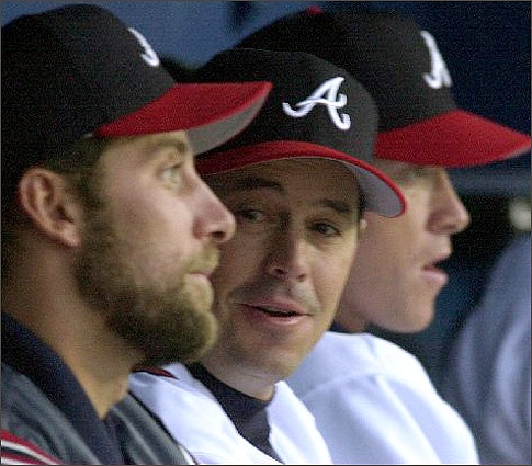 It's been five years since all three future Hall of Fame pitchers John Smoltz, Greg Maddux and Tom Glavine were in the same stadium at the same time. They played a decade together from 1993-2002. In that time the trio combined for five Cy Young awards, nine division titles and a World Series.