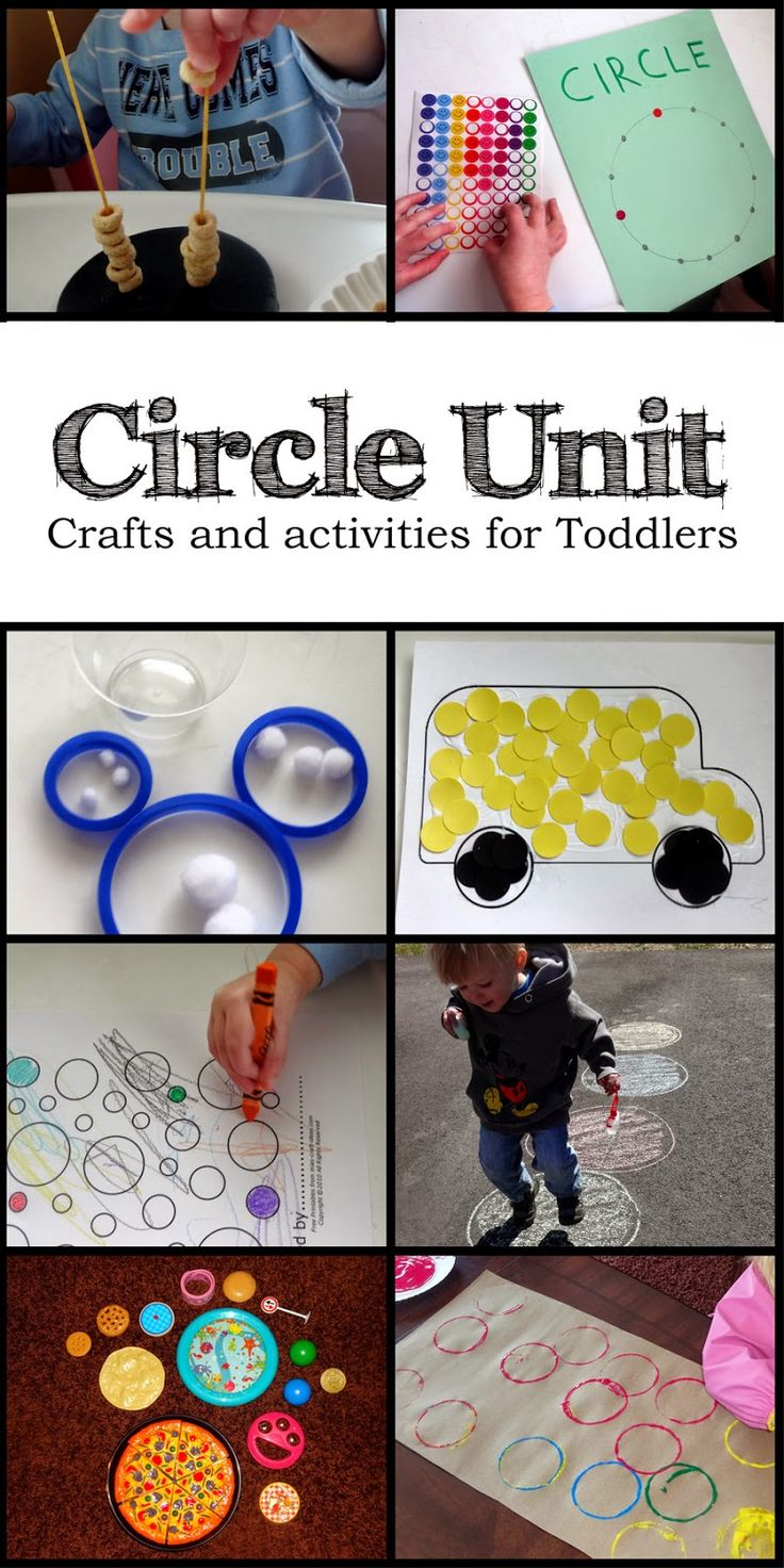 Circles - Crafts and activities for toddlers learning their shapes.