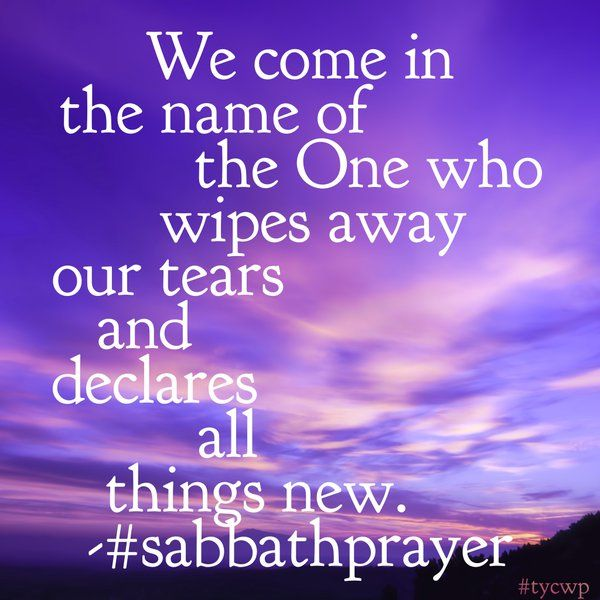 Young Clergy Women (@TYCWP) | Twitter // sabbath prayer