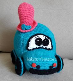 Leithygurumi: Amigurumi Araba Mike Türkçe Tarif / Amigurumi Car Mike Turkish Pattern