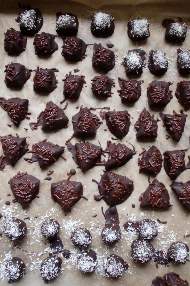 Lekkere bonbons met marsepein vulling!