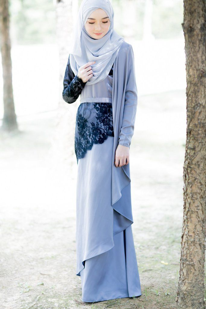 Fiona Lacey Dress Grey with Black Lace